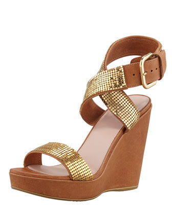 Metalman Chain-Maille Wedge Sandal