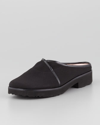Tesse Stretch Slip-On Mule, Black
