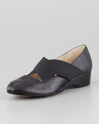 Farrah Crisscross Slip-On Flat, Black