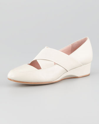 Farrah Crisscross Slip-On Flat, Sand
