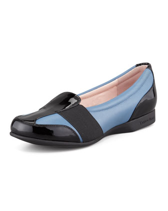 Flat Slip-On Sport Loafer, Blue