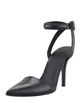 Lovisa Leather Ankle-Wrap Pump