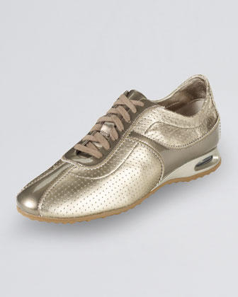 Air Bria Perforated Oxford Sneaker, Vintage Silver
