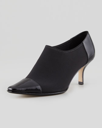 Levy Pointy-Toe Bootie, Black