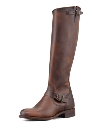 150th Anniversary Jet Engineer Tall Boot, Dark Brown