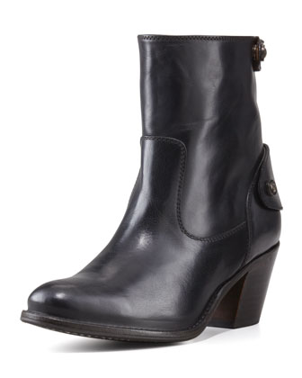 Jackie Short Snap-Zip Boot