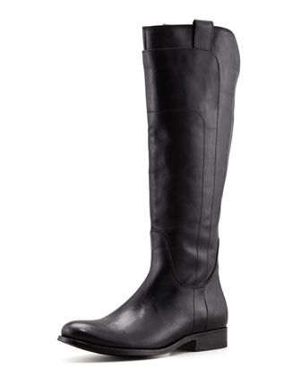 Melissa Tall Leather Riding Boot, Black