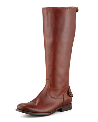 Melissa Zip Riding Boot, Cognac
