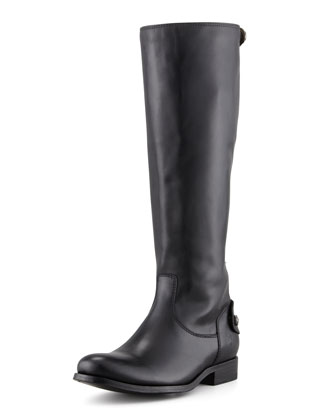 Melissa Zip Riding Boot, Black