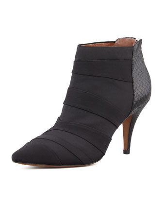 Pointy Toe Ankle Boot, Black