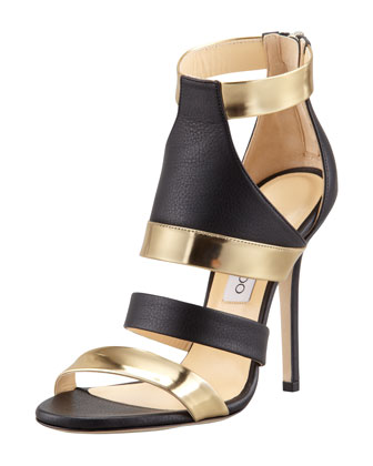 Besso Mixed-Leather Sandal