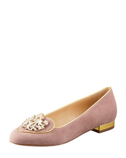 Charlotte Olympia Birthday Virgo Zodiac Smoking Slipper, Beige