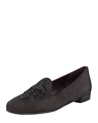 Lys Crystal-Rocks Smoking Slipper, Black