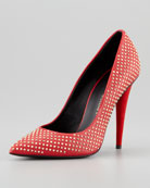 Studded Pointed-Toe Pump