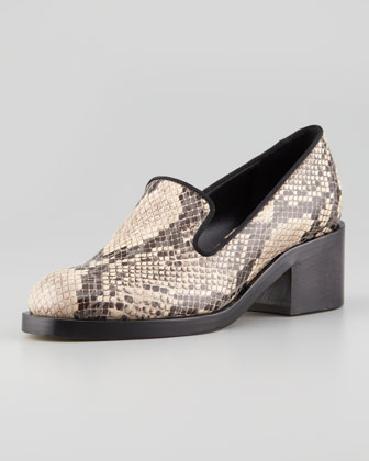 Faux Snake Loafer