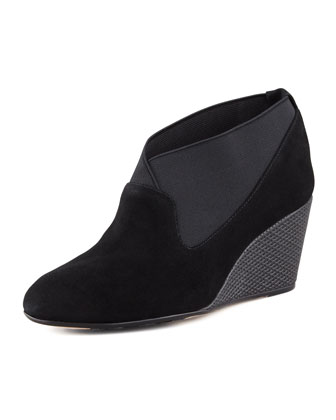 Keene Suede Wedge Pump, Black