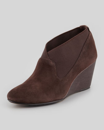 Keene Suede Wedge Pump, Dark Brown
