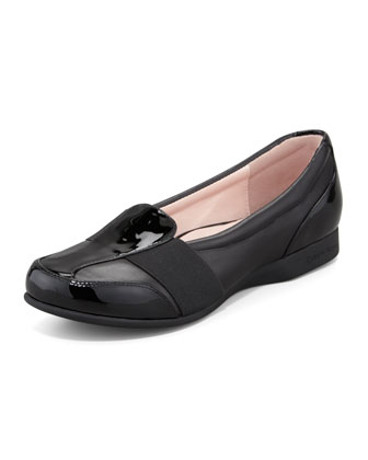 Taurus Flat Slip-On Sport Loafer, Black