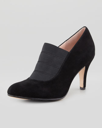 Tacoma Suede Stretch Pump, Black