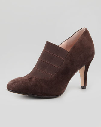 Tacoma Suede Stretch Pump, Chocolate