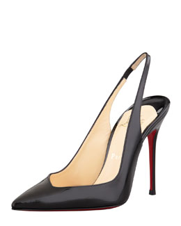 Christian Louboutin Flueve Pointed-Toe Slingback Pump, Black