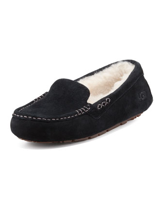 Ansley Moccasin Slipper, Black