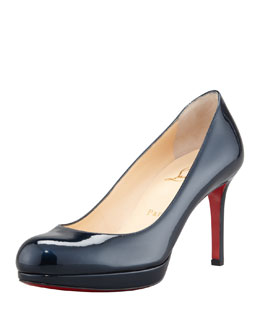 Christian Louboutin New Simple Patent Pump, Blue Khol