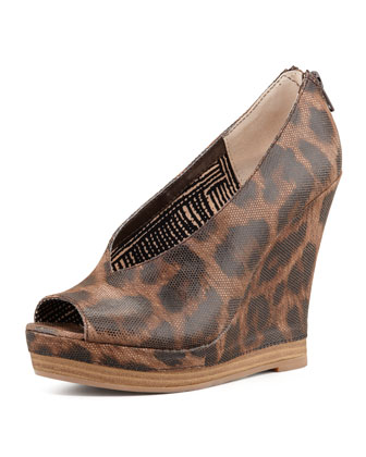 Storytelling Leopard-Print Wedge
