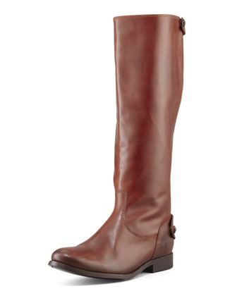 Melissa Zip Riding Extended Calf Boot, Cognac