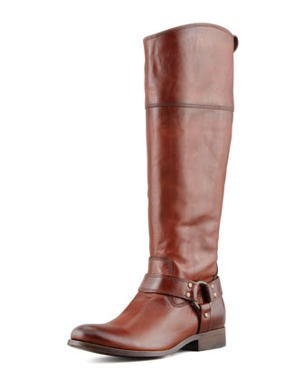 Melissa Harness Extended Calf Riding Boot, Redwood