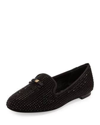 Chandra Sparkle Smoking Slipper, Black