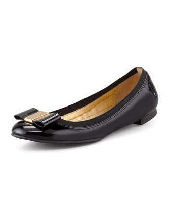 tock patent leather ballet flat, black