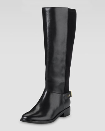 Adler Flat Knee Boot, Black