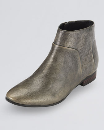 Allen Leather Bootie, Black/Metallic
