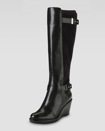 Fulton Wedge Boot, Black