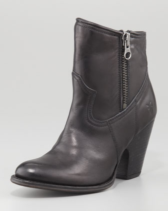 Angela Short Modified Western Boot, Black