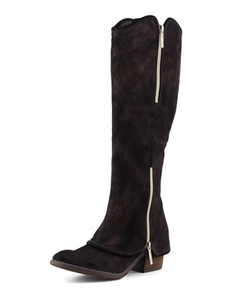 Devi Suede Knee Boot, Bronze