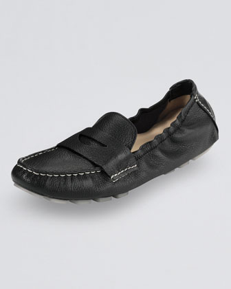 Sadie Deconstructed Driver Moccasin, Black