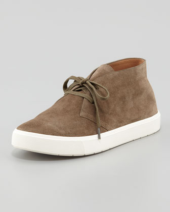 Chelsea Suede Lace-Up Sneaker