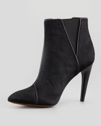 Fabian Calf Hair Bootie, Black