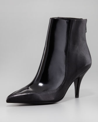 Lelia Patent Leather Bootie, Black