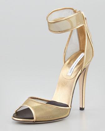 Rae Mesh Ankle-Cuff Sandal