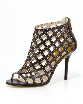 Aiden Studded Laser-Cut Bootie