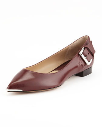 Jacynth Buckle-Heel Flat