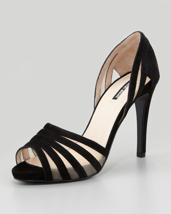 Suede d'Orsay Pump, Black