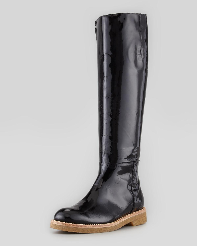 Patent Knee High Boot   Marni   Black (36.5B/6.5B)