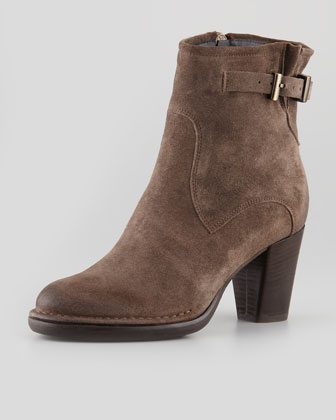 Isabela Buckled Ankle Boot, Tortora