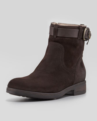 Sasso Suede Ankle Boot, Dark Brown