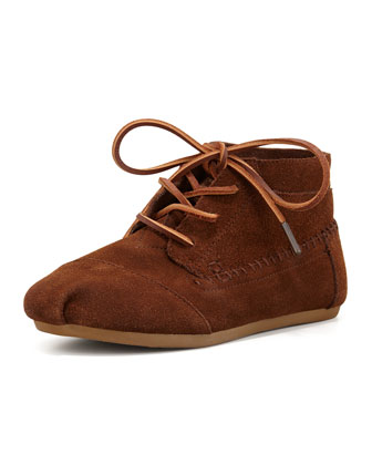 Suede Moccasin Boot, Chocolate