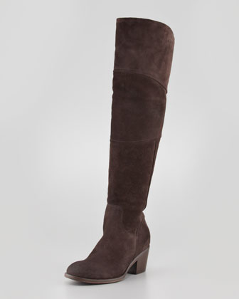 Circio Suede Knee Boot, Brown
